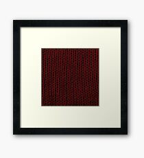 Burgundy Knit Framed Print