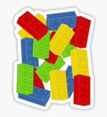 Colored Bricks Sticker