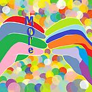 """ASL """"More"""" on a Bright Bubble Background by EloiseArt"""