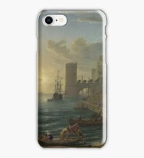 Claude - Seaport With The Embarkation Of The Queen Of Sheba iPhone Case/Skin