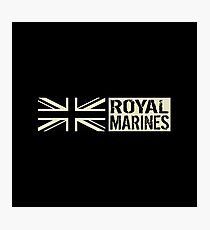 British Royal Marines Black Military Flag Photographic Print
