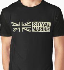 British Royal Marines Black Military Flag Graphic T-Shirt