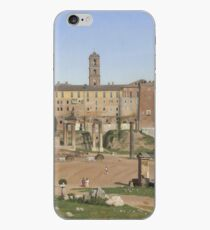 Christoffer Wilhelm Eckersberg - View Of The Forum In Rome iPhone Case