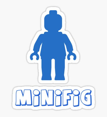 Minifig [Blue], Customize My Minifig Sticker
