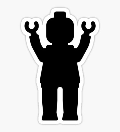 MINIFIG With Arms Up Sticker
