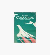 Concorde Vintage Holiday poster  Art Board