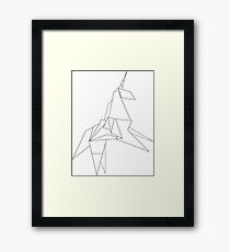 iconic symbol from the movie Blade Runner 1982 based on the novel by Phillip K. Dick. A reminder that we only get one brief life. Framed Print