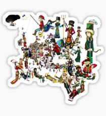 EUROPA UNIVERSALIS - National Personifications Map - 1444 Sticker