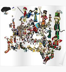 EUROPA UNIVERSALIS - National Personifications Map - 1444 Poster