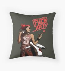 fuck off with your products! Throw Pillow