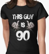This Guy Is 90 Funny 90th Birthday Gift Womens Fitted T Shirt