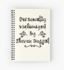 Personally Victimized by Moffat (221b wallpaper) Spiral Notebook