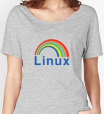 Rainbow Linux Women's Relaxed Fit T-Shirt