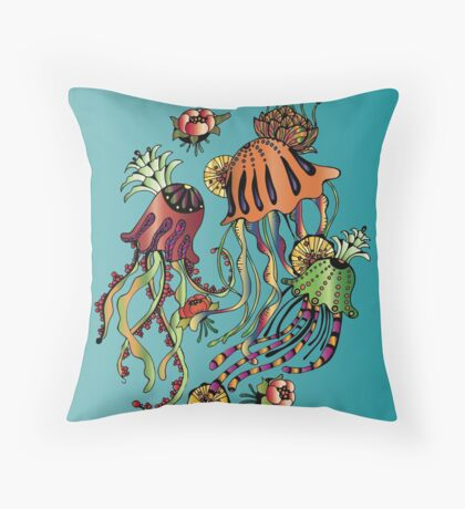 meduses Throw Pillow