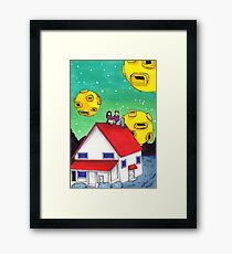 a toothpaste suburb  Framed Print
