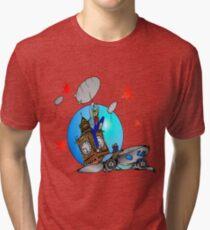 Rose Tyler Meets Captain Jack Harkness Tri-blend T-Shirt