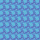 Paisley Elephants in Purple and Blue by Greenbaby