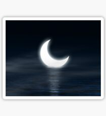 Moon on the water Sticker