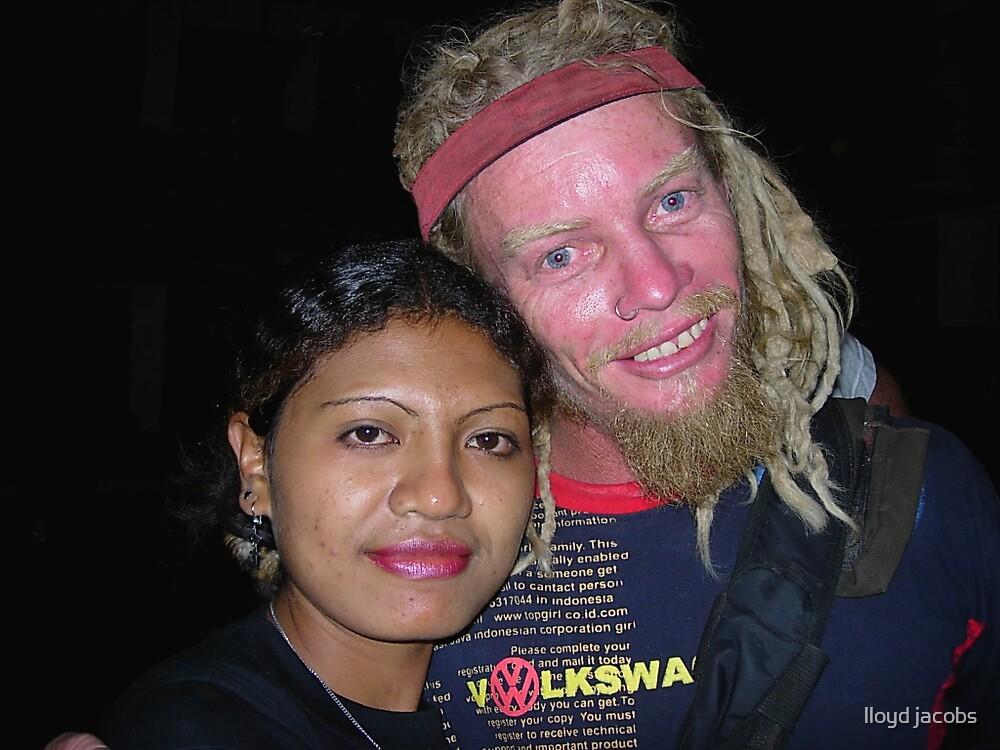 BUGGA AND FRIEND AT TEDDIES. Kupang ,West Timor  2005 by lloyd jacobs