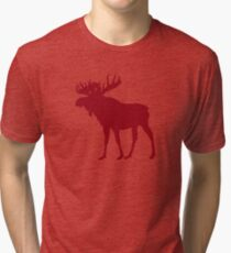 Moose: Rustic Red Tri-blend T-Shirt