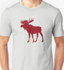 Moose: Rustic Red T-Shirt