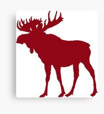 Moose: Rustic Red Canvas Print