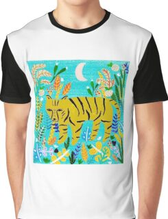 Tiger In The Jungle Graphic T-Shirt
