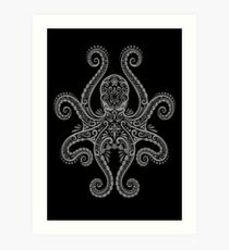 Intricate Dark Octopus Art Print