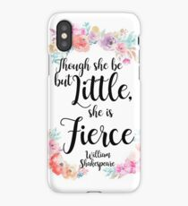 Though she be floral print iPhone Case/Skin