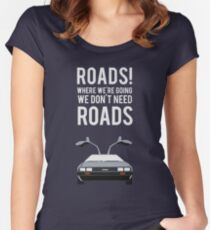 Back to the Future - Roads Women's Fitted Scoop T-Shirt