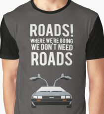 Back to the Future - Roads Graphic T-Shirt