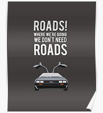 Back to the Future - Roads Poster