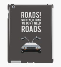 Back to the Future - Roads iPad Case/Skin