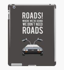 Back to the Future - Roads iPad Case/Skin