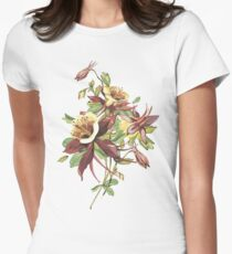Vintage Spring Flowers. Womens Fitted T-Shirt