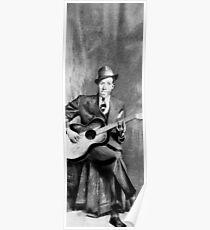 Portrait of Robert Johnson Poster