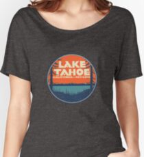 Lake Tahoe California Nevada Vintage State Travel Decal Women's Relaxed Fit T-Shirt