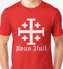 Crusader Cross - Deus Vult - White T-Shirt