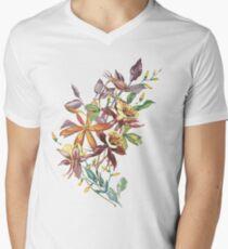 Vintage Spring Flowers Mens V-Neck T-Shirt