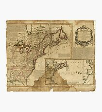 Map of Early America (1780) Photographic Print