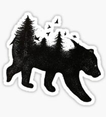 Bear in Nature Sticker