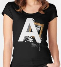 A IS FOR ART Women's Fitted Scoop T-Shirt