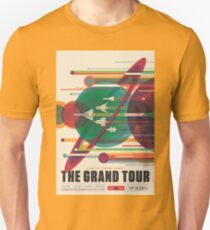 Retro Space Poster - The Grand Tour T-Shirt