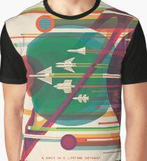 Retro Space Poster - Die große Tour Grafik T-Shirt