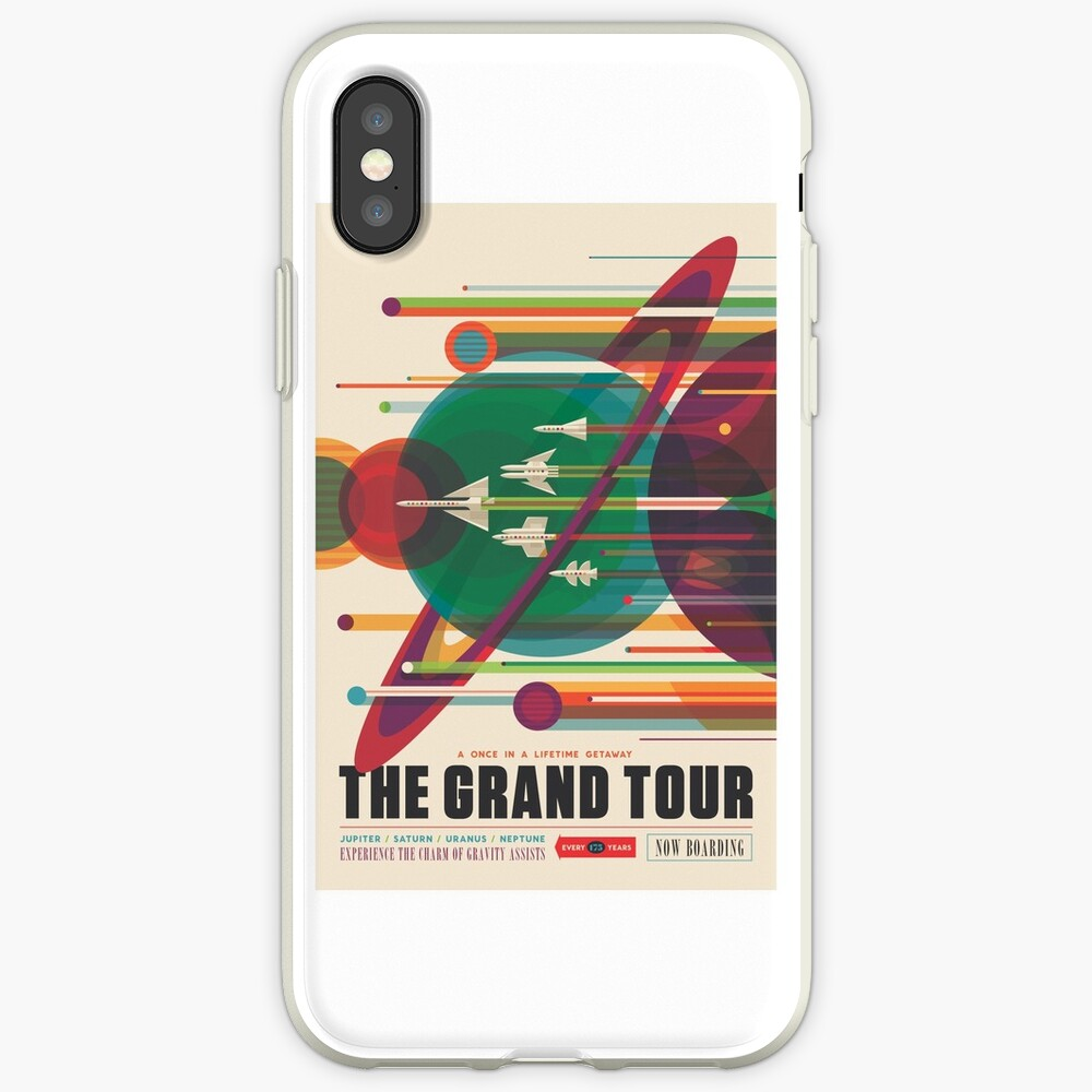 Retro Space Poster - Die große Tour iPhone-Hülle & Cover