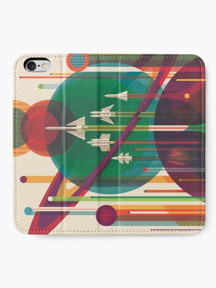 Alternative Ansicht von Retro Space Poster - Die große Tour iPhone Flip-Case