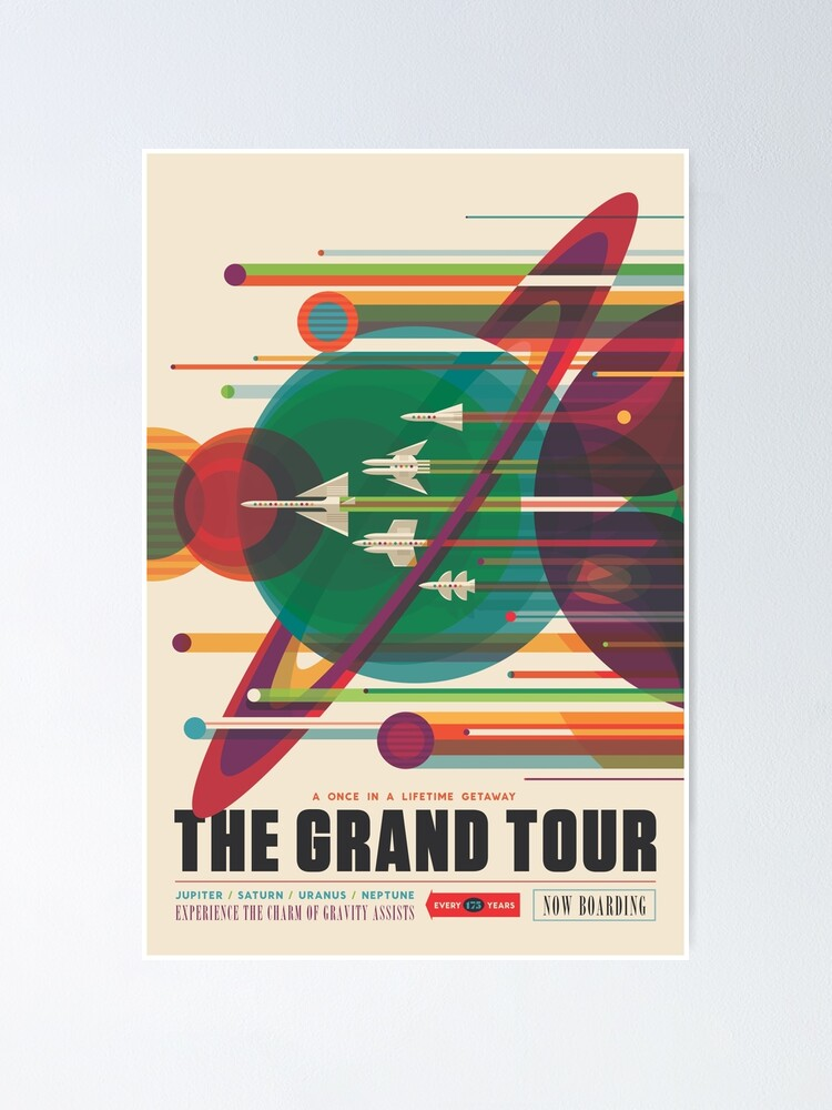 Alternate view of Retro Space Poster - The Grand Tour Poster