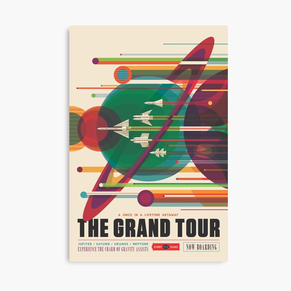 Retro Space Poster - Die große Tour Leinwanddruck