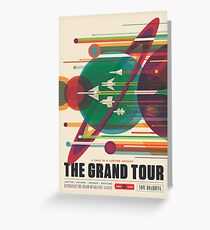 Retro Space Poster - The Grand Tour Greeting Card