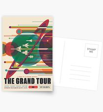 Retro Space Poster - The Grand Tour Postcards